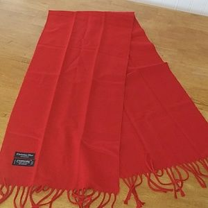 Christian Dior Cashmere Red Scarf